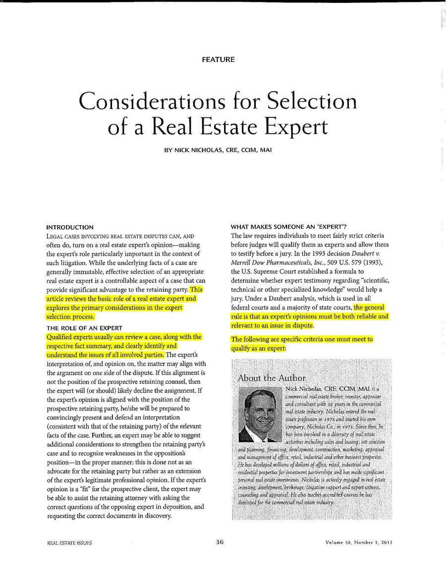 Considerations for Selection of a Real Estate Expert_Page_1
